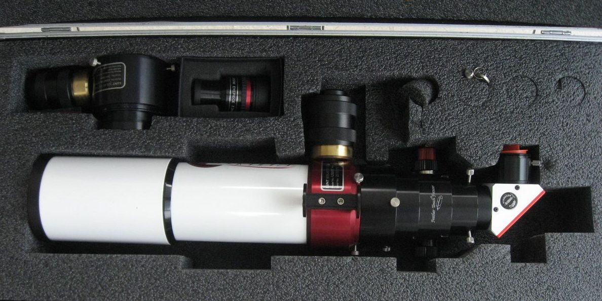Lunt Sonnenteleskop LS80Tha Feather Touch Pressure Tuner 1200b