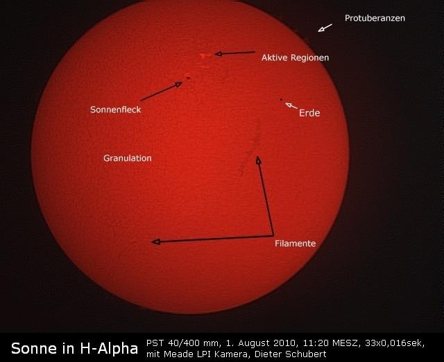 Coronado PST Aufnahme der Sonne
