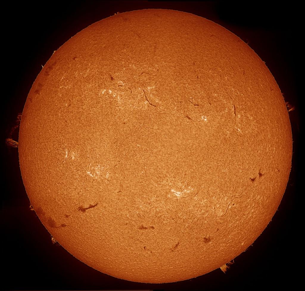 Aufnahme mit einem solarscope Sonnenteleskop